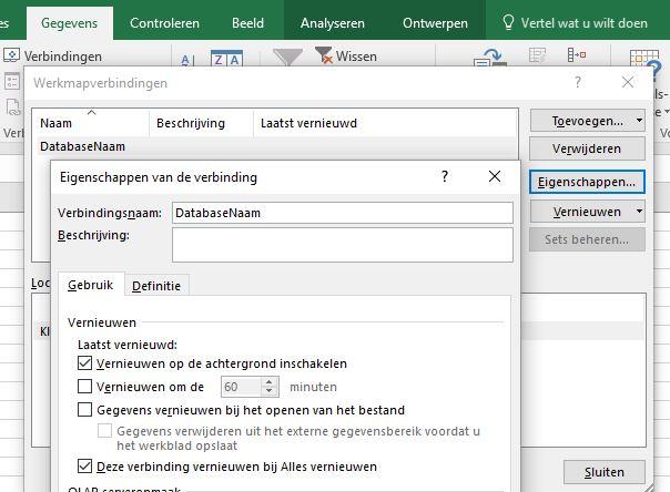 Draaitabellen in MS Access vanuit Excel 2