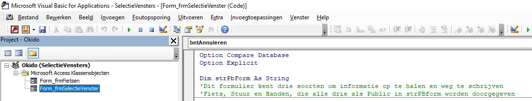 Creating selection windows part 4 in MS database: The Final commands
