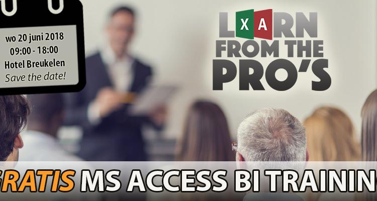 GRATIS Training: zelf BI toepassen met MS Access