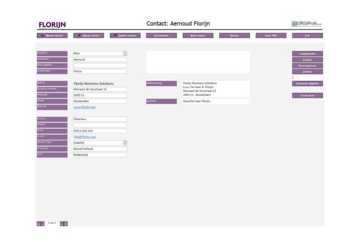 Gratis database Contactmanagement